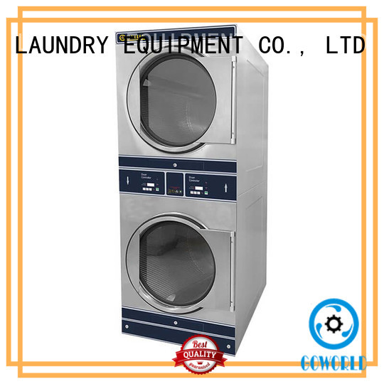 GOWORLD 8kg12kg stacking washer dryer supplier for hotel