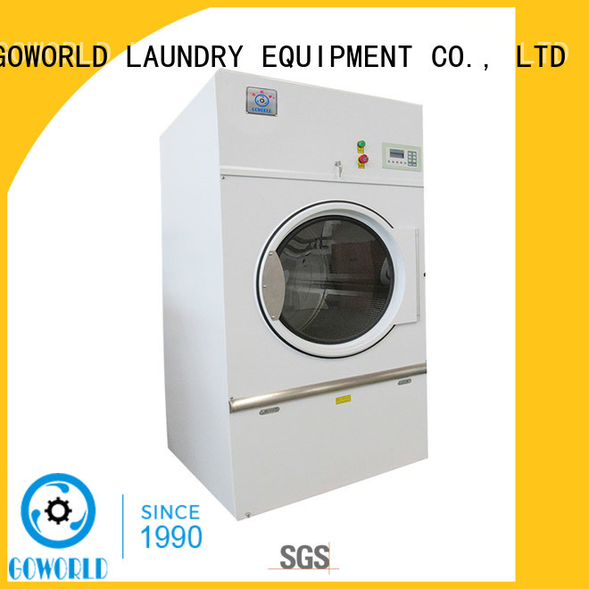 GOWORLD Stainless steel gas tumble dryer low noise for inns