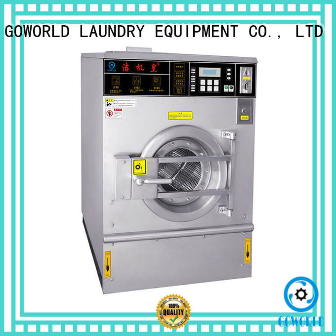 GOWORLD double self laundry machine steam heating for hotel