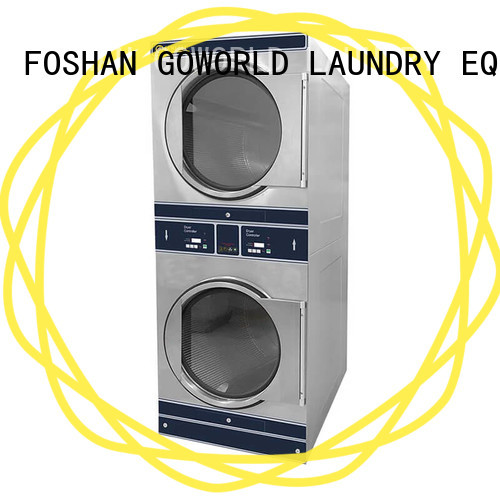 Manual stackable washer and dryer sets 8kg12kg LPG gas heating for hotel