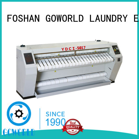 GOWORLD heating flat roll ironer for sale for textile industries