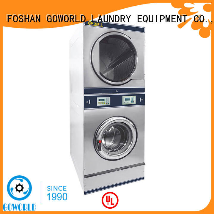 dryer stacking washer and dryer LPG gas heating for commercial laundromat GOWORLD