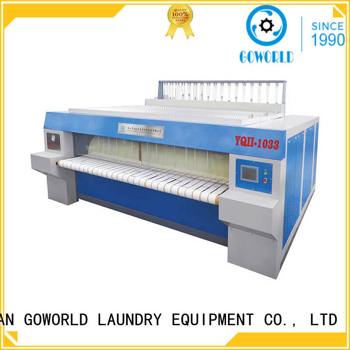 GOWORLD hotel bed sheet ironing machine easy use for textile industries