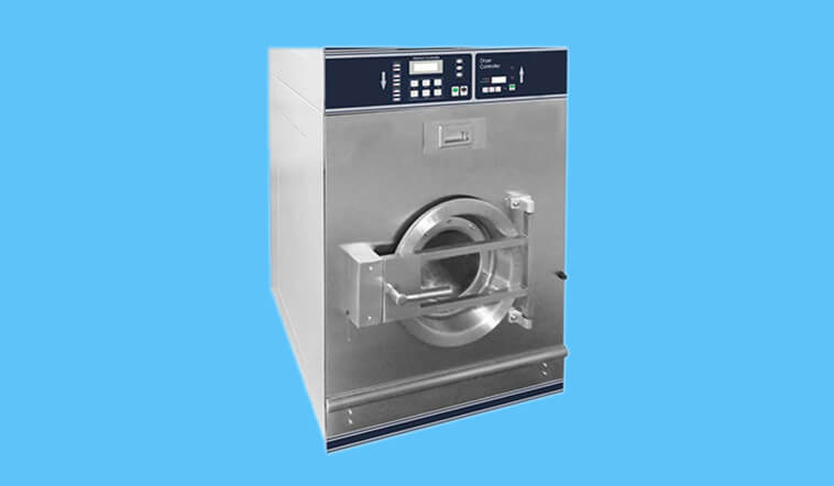 GOWORLD Low Noise stackable washer dryer combo LPG gas heating for fire brigade