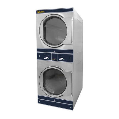 8kg-12kg Combo stack drying machine in commercial laundromat,school,fire brigade