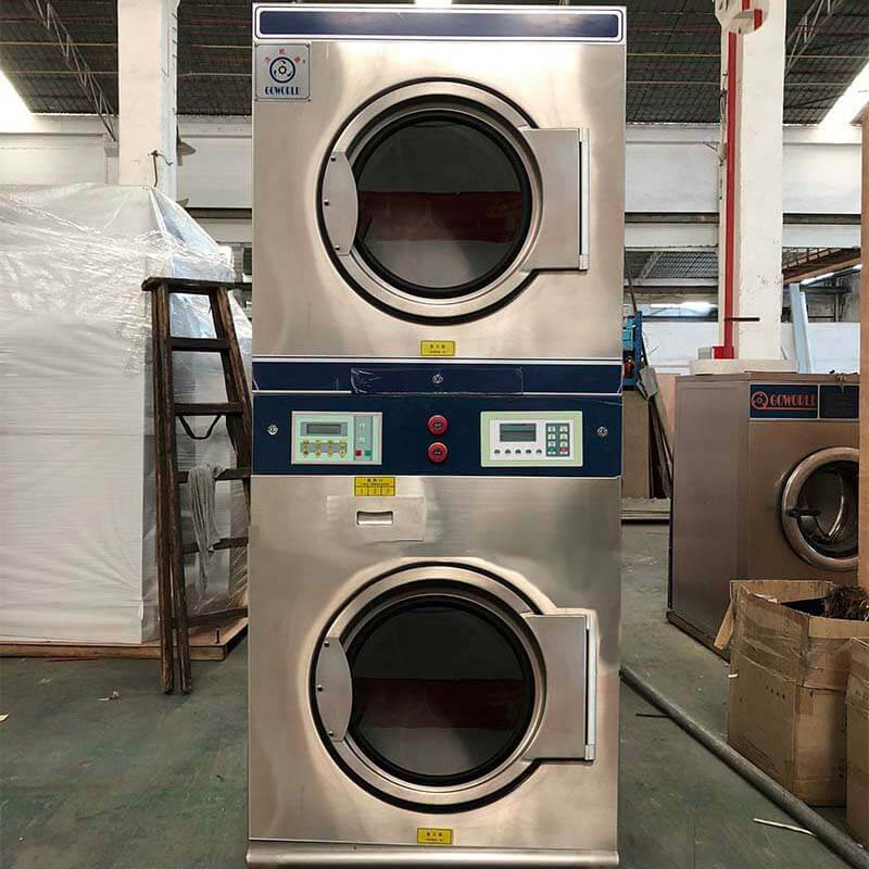 GOWORLD 8kg12kg stackable washer and dryer sets LPG gas heating for hotel