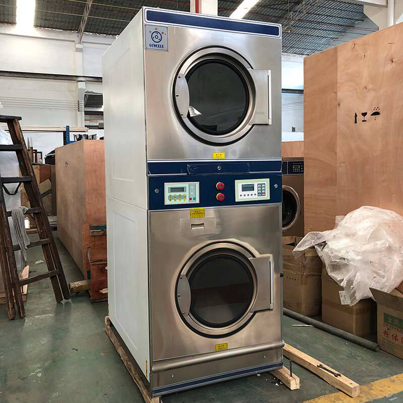 GOWORLD Energy Saving stackable washer dryer combo electric heating for fire brigade