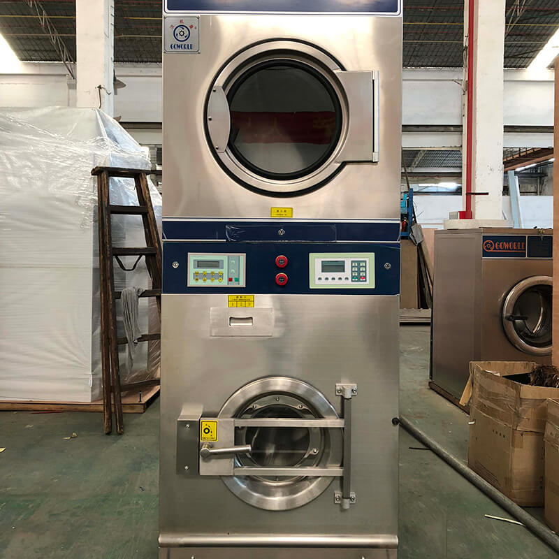 GOWORLD drying stacking washer dryer natural gas heating for laundry shop-3
