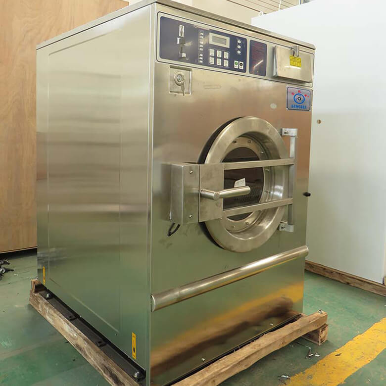 GOWORLD railway self service laundry equipment natural gas heating for commercial laundromat