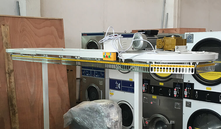 laundry conveyor taking good performance for fire brigade
