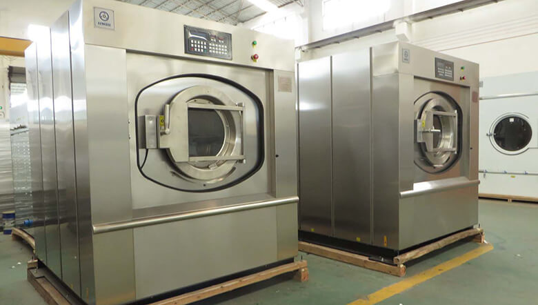 GOWORLD stainless steel washer extractor simple installation for hospital