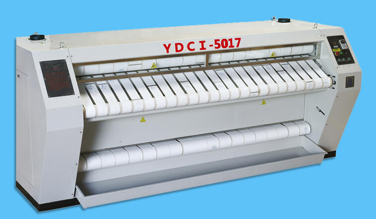 GOWORLD stainless steel flat work ironer machine factory price for textile industries