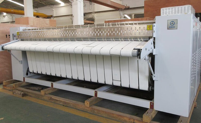 GOWORLD heat proof flat work ironer machine free installation for inns