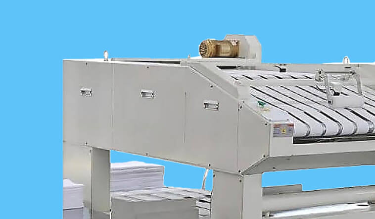 automatic towel folder folding high speed for laundry factory-3