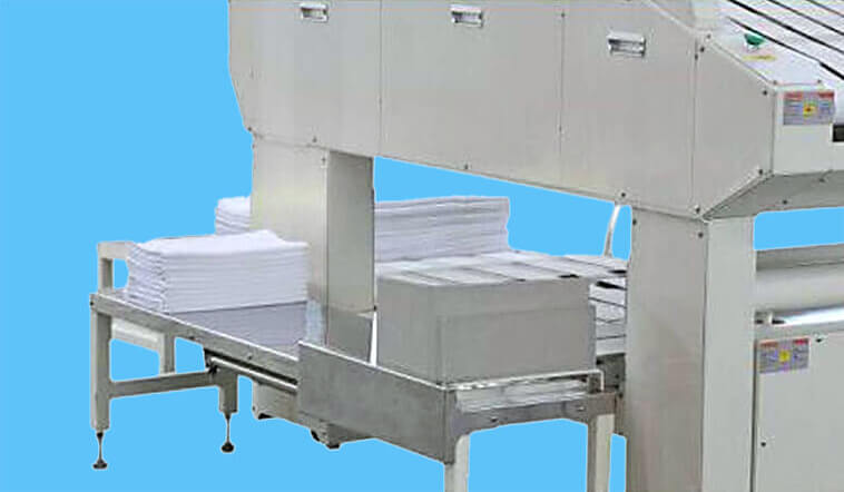 automatic towel folder folding high speed for laundry factory-4