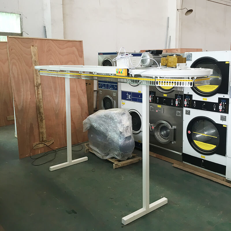 Clothes conveyor machine shirts taking line clothes