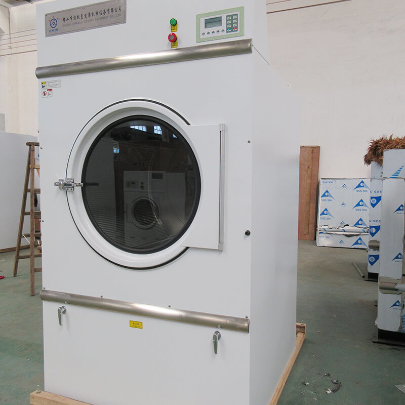 GOWORLD Stainless steel electric tumble dryer steadily for laundry plants