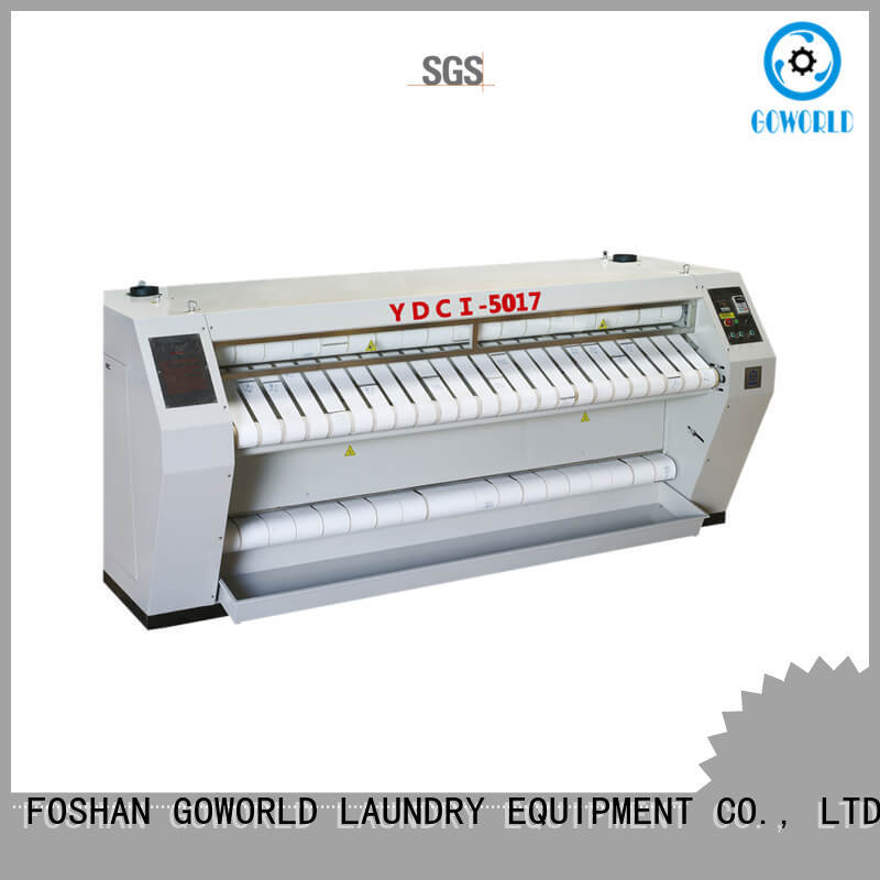 GOWORLD high quality flat work ironer machine for sale for hotel