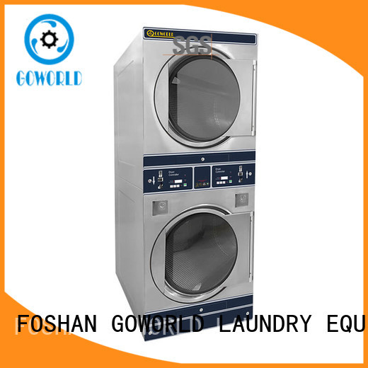GOWORLD stainless steel self washing machine directly price for commercial laundromat