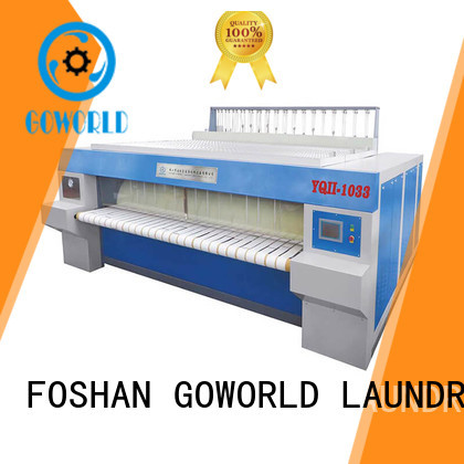 GOWORLD roller flat roll ironer free installation for textile industries