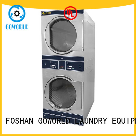 GOWORLD Automatic stacked washer dryer combo brigade for school