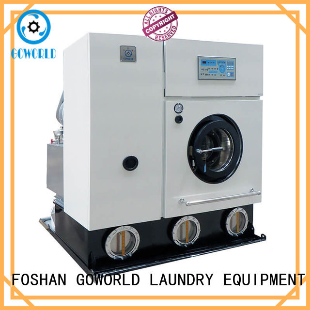 GOWORLD safe dry cleaning equipment energy saving for railway company