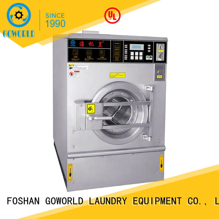 GOWORLD coin self-service laundry machine LPG gas heating for school