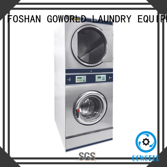 Low Noise stackable washer dryer combo 8kg15kg steam heating for school