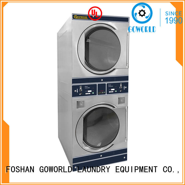 GOWORLD stainless steel self service washing machine LPG gas heating for service-service center