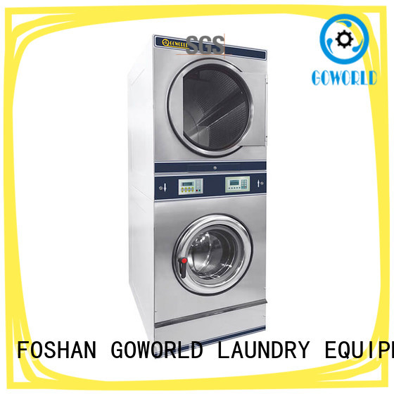 GOWORLD Energy Saving stackable washer dryer combo electric heating for school