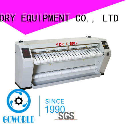 GOWORLD stainless steel flat work ironer machine easy use for hospital