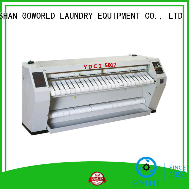 GOWORLD heat proof flat work ironer machine factory price for hotel