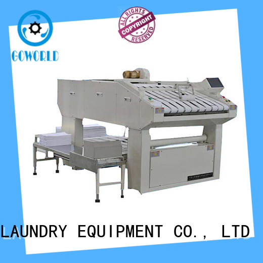 automatic commercial laundry folding machine efficiency for medical engineering GOWORLD