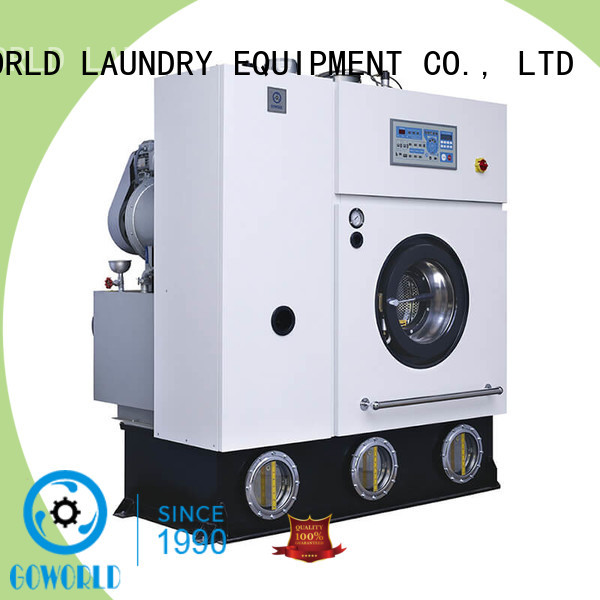 GOWORLD railway dry cleaning washing machine environment friendly for textile industries