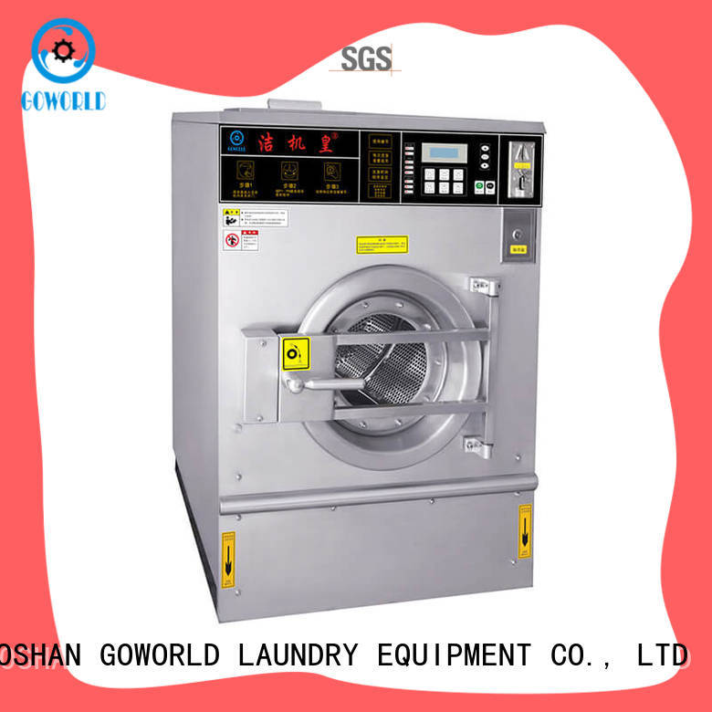 GOWORLD stainless steel self service washing machine for sale for school