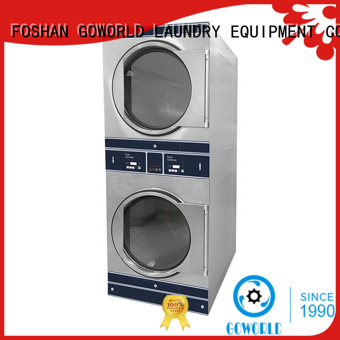GOWORLD brigade stackable washer dryer combo electric heating for laundry shop