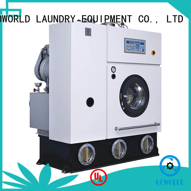 GOWORLD stainless steel dry cleaning machine Easy operated for railway company