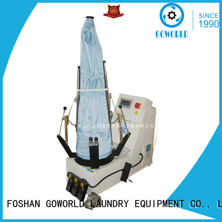 best industrial iron press machine finisher pneumatic control for dry cleaning shops