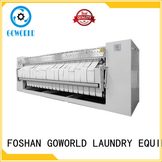 GOWORLD stainless steel roller ironing machine free installation for hotel