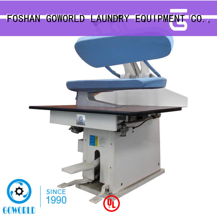 GOWORLD grade industrial iron press machine pneumatic control for hotel