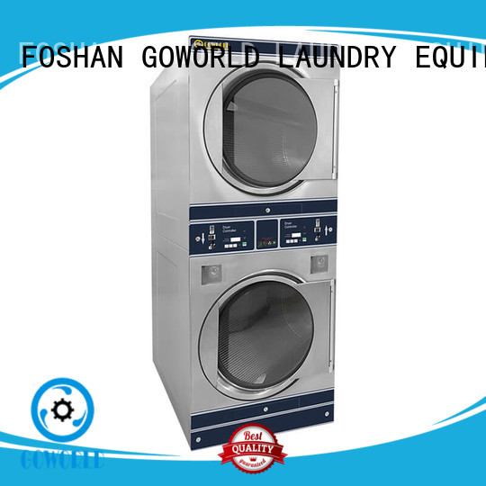 convenient coin operated stackable washer and dryer LPG gas heating for school GOWORLD