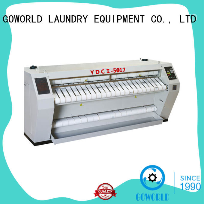 heat proof flat work ironer laundry equipment easy use for hotel GOWORLD