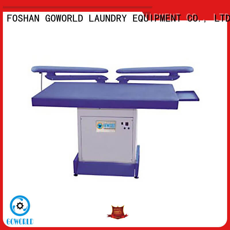 GOWORLD form industrial iron press machine pneumatic control for dry cleaning shops