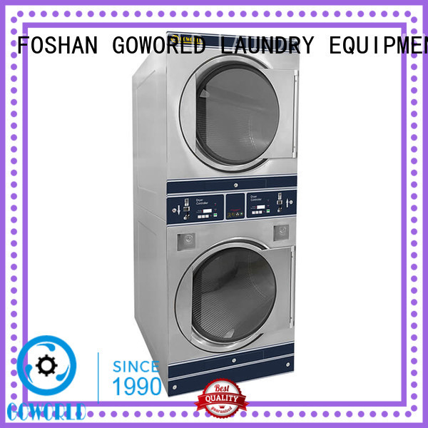 GOWORLD stainless steel self-service laundry machine electric heating hotel