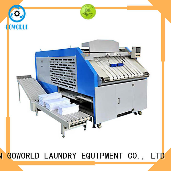 GOWORLD machine towel folding machine high speed for laundry factory