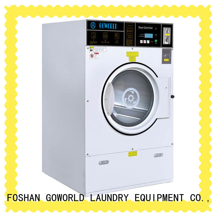 GOWORLD fire self service laundry equipment natural gas heating for school