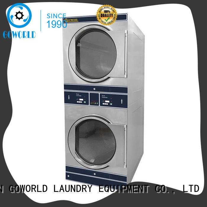 Energy Saving stackable washer dryer combo fire natural gas heating for hotel