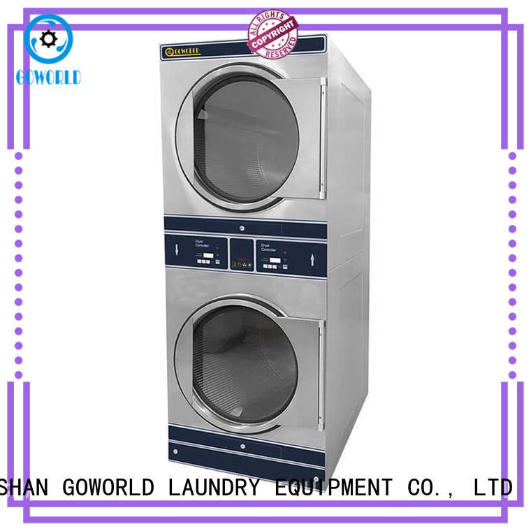 GOWORLD Automatic stackable washer and dryer sets natural gas heating for school