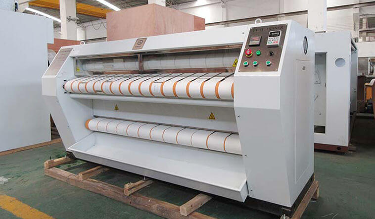 GOWORLD safe flat work ironer machine easy use for textile industries-1