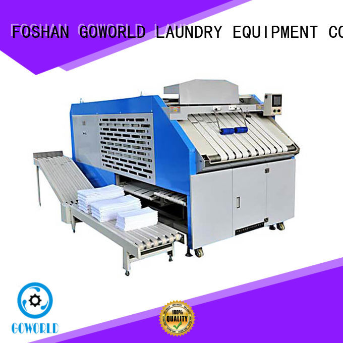 GOWORLD textile automatic towel folder factory price for textile industries